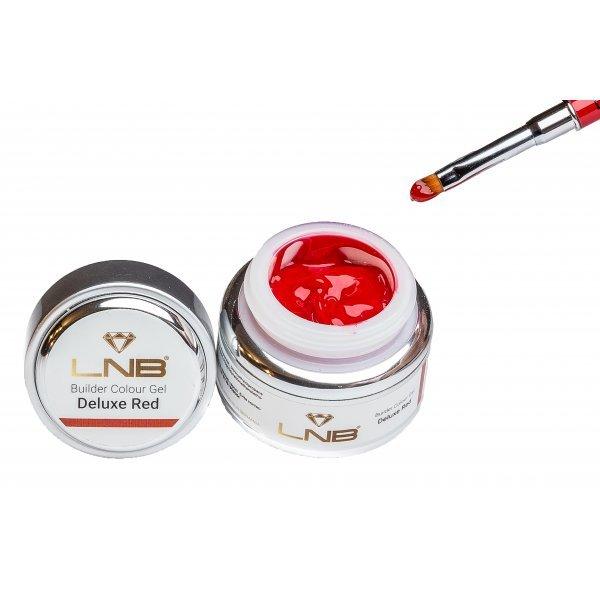 "BUILDER COLOUR GEL "" DELUXE RED "" LNB 15 ML"