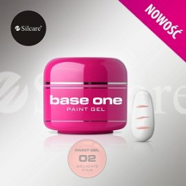 SILCARE BASE ONE PAINT GEL 02 DELICATE PINK 5 GR.