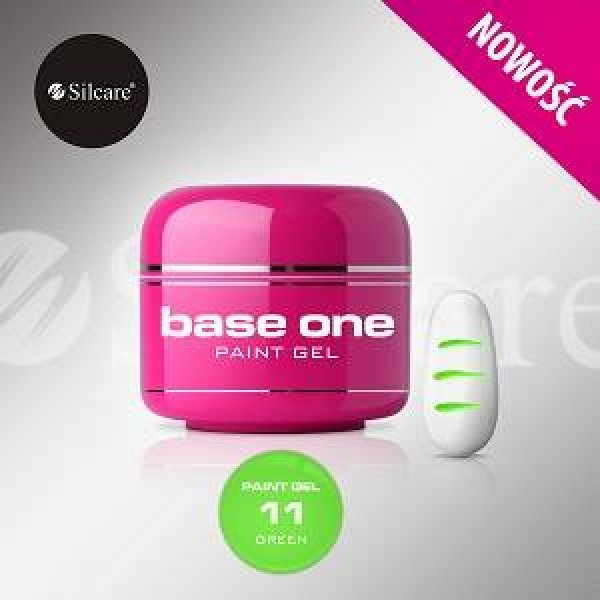 SILCARE BASE ONE PAINT GEL 11 GREEN 5 GR.
