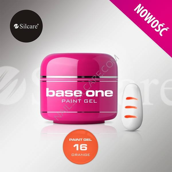 SILCARE BASE ONE PAINT GEL 16 ORANGE 5 GR.